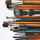 Variety of paintbrushes — Stock Photo