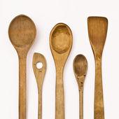 Kitchen wooden utensils — Stock Photo