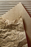 Crumpled paper and goffered cardboard textures — Stock Photo