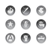 Riot icons — Stock Vector