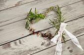 Heart oh herbs — Stock Photo
