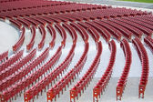 Rows of Red Amphitheater Seats — Stock Photo
