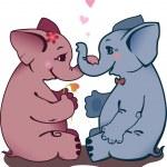 Постер, плакат: Two elephant