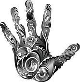 Flower hand — Stock Vector