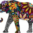 The cheerful elephant — Imagen vectorial