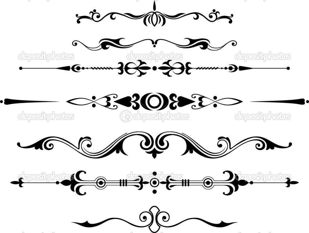 Decorative dividers — Stock Vector © Kubera #7613792