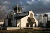 церковь в конце осени — Стоковое фото