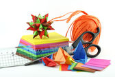 Bastelstunde mit Origami — Stock Photo