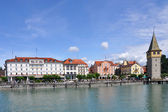 Hafenpromenade Lindau am Bodensee — Stock Photo
