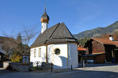 Kirche in Grainau Zugspitze — Stock Photo