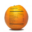 Orange with nutrition facts — Stock Photo #7578114