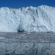 Calving glacier Eqi, Greenland. — Stock Photo