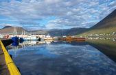 Porto de isajfordur, islândia — Fotografia Stock