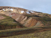 Landmannalaugar Rhyolite hill, Iceland — Stock Photo