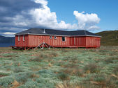 Arctic circle trail hut, Greenland — Stock Photo