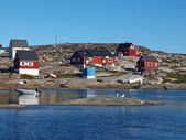 Oqaatsut village, Greenland — Stock Photo