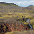 Stock Photo: Laugavegur hike in Iceland, north of Thorsmork.