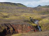 Laugavegur hike in Iceland, north of Thorsmork. — Stock Photo