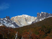 Torres del Paine in fall, Chile. — Stock Photo