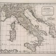 Stock Photo: Antique map of Italy