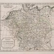 Antique map of Germany — Stock Photo