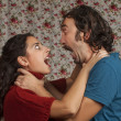 Young couple having a conflict — Stock Photo