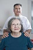 Doctor with mature patient — Stock Photo