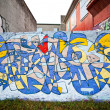 Colorful graffiti in Reykjavik, Iceland — Stock Photo