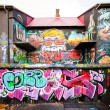 Colorful graffiti in Reykjavik, Iceland — Stock Photo #7536263