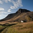 Old house in the mountains in Iceland — Stock Photo