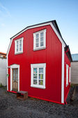 Traditional scandinavian house — Стоковое фото