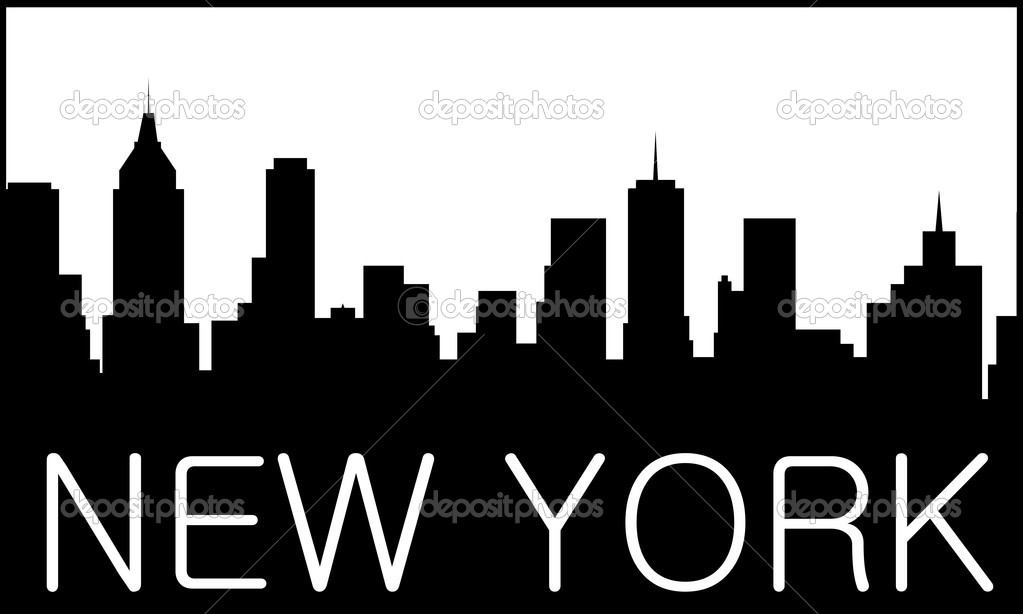 City Skyline Logo Skyline of New York City