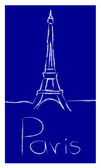 Paris vector logo — Stock Vector