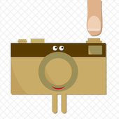 Camera ready to shoot character — Stock Vector