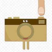 Camera ready to shoot character — Stock Vector