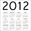 Stock Vector: 2012 simple calendar with white background