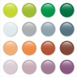 Gradient pastel web buttons set — Stock Vector