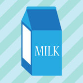 Carton of milk — Vector de stock