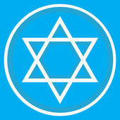Star of David and blue background — Stock Vector