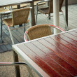 Outdoor cafe tables - Stock Photo