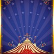 Stock Vector: Big top at night