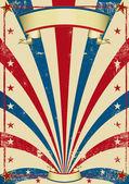 Cartel vintage circo — Foto de Stock