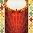 Circus vintage rhombus poster — Stock Vector