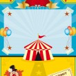 Circus on the beach - Stock Vector