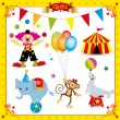 Fun Circus Set - Stok Vektör