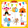 Fun Circus Set - Stock Vector
