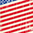 Dirty flag of united states of America — Stock Vector
