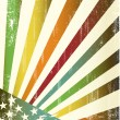 Royalty-Free Stock Vector Image: Multicolor grunge american flag