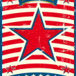 Royalty-Free Stock Vector Image: Big red star on a US poster theme