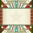 Tricolor background with frame - Stock Vector